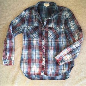 Cloth & Stone plaid button down shirt